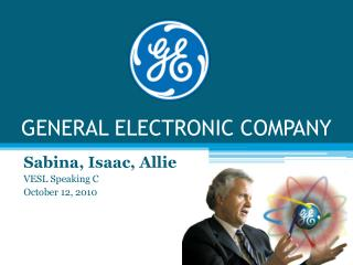 GENERAL ELECTRONIC COMPANY
