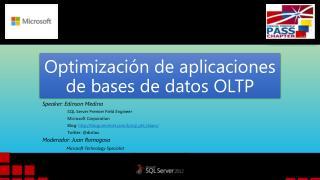 Optimizaci�n de aplicaciones de bases de datos OLTP