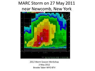 MARC Storm on 27 May 2011  near  Newcomb, New York
