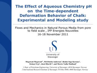 The Effect of Aqueous Chemistry pH on  the Time-dependent Deformation Behavior of Chalk: Experimental and Modeling stud