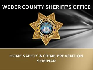 WEBER COUNTY SHERIFF'S OFFICE