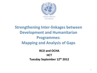 Strengthening Inter-linkages between Development and Humanitarian  Programmes : Mapping and Analysis of Gaps