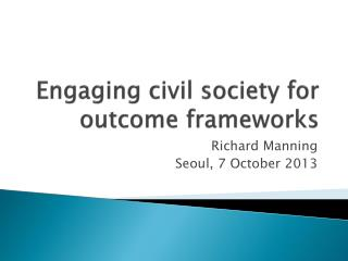 Engaging civil society for outcome frameworks