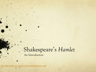 an introduction to  the tragedy of hamlet
