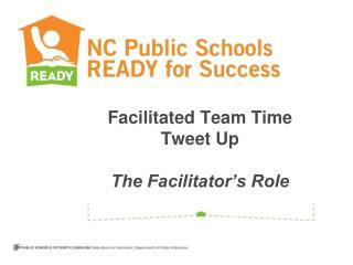 Facilitated Team Time Tweet Up The Facilitator's Role