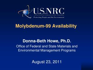 Molybdenum-99 Availability