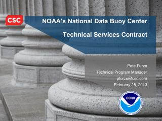 NOAA's National Data Buoy Center Technical Services Contract