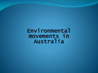 Environmental movements in Australia