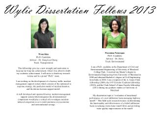 Wylie Dissertation Fellows  2013