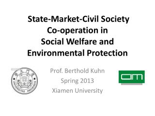 State-Market-Civil Society  Co-operation in Social Welfare and Environmental Protection