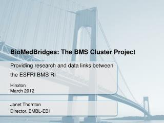 BioMedBridges : The BMS Cluster Project