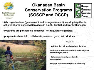 Okanagan Basin Conservation Programs (SOSCP and OCCP)