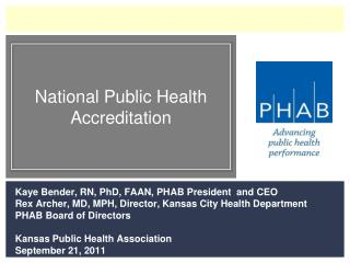 National Public Health Accreditation