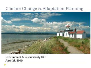 Climate Change & Adaptation Planning