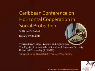 Caribbean Conference on Horizontal Cooperation in Social Protection