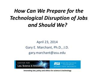 How Can We Prepare for the Technological Disruption of Jobs and Should We?