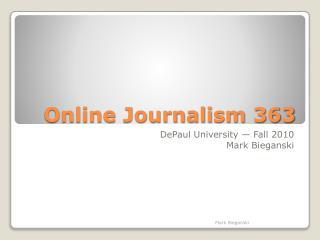 Online Journalism 363