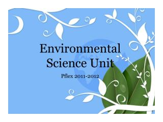 Environmental Science Unit