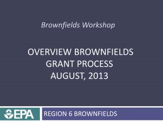 Brownfields Workshop