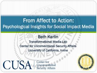 From Affect to Action:  Psychological Insights for Social Impact Media