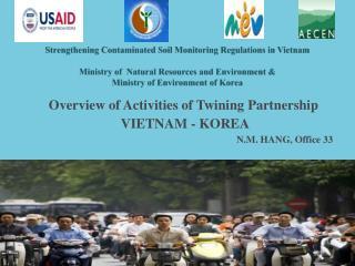 Overview of Activities of Twining Partnership  VIETNAM - KOREA  N.M. HANG, Office 33