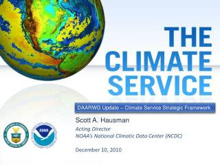 DAARWG Update – Climate Service Strategic Framework