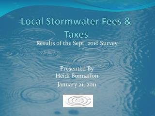 Local Stormwater Fees & Taxes