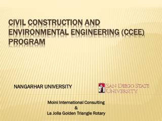 Civil Construction and Environmental Engineering (CCEE) Program
