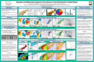 Synoptic and Mesoscale Aspects of Ice Storms in  the  Northeastern United States