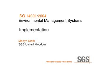 ISO 14001:2004 Environmental Management Systems