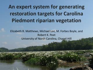 An expert system for generating restoration targets for Carolina Piedmont riparian vegetation