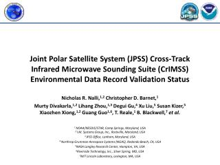 Joint Polar Satellite System (JPSS) Cross-Track Infrared Microwave Sounding Suite (CrIMSS) Environmental Data Record Va