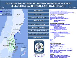 YALE/TULANE ESF-8 PLANNING AND RESPONSE PROGRAM SPECIAL REPORT ( FUKUSHIMA DAIICHI NUCLEAR POWER PLANT )