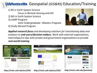 Geospatial  (GIS&RS)  Education/Training