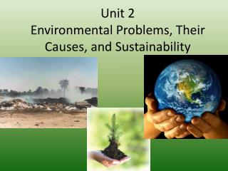 Unit 2  Environmental Problems, Their Causes, and Sustainability