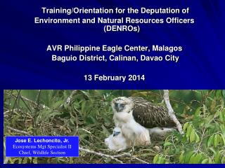 Training/Orientation for the Deputation of  Environment and Natural Resources Officers (DENROs) AVR Philippine Eagle C