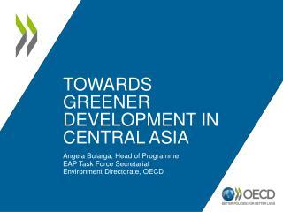 TOWARDS  Greener development IN CENTRAL ASIA