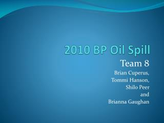 2010 BP Oil Spill