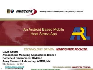 An Android Based Mobile  Heat Stress App