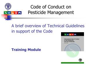 Code of Conduct on  Pesticide  Management