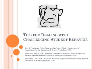 Tips for Dealing with Challenging Student Behavior