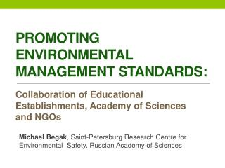 Promoting Environmental Management Standards :
