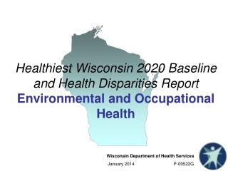 Healthiest Wisconsin 2020 Baseline and Health Disparities Report Environmental and Occupational Health