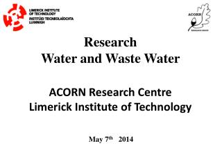 Research   Water and Waste Water