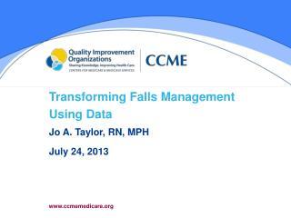 Transforming Falls Management   Using Data