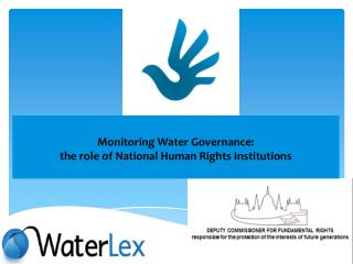 Monitoring Water Governance:  the role of National Human Rights Institutions