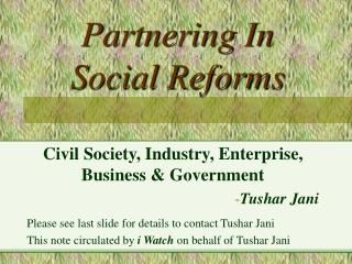 partnering in    social reforms