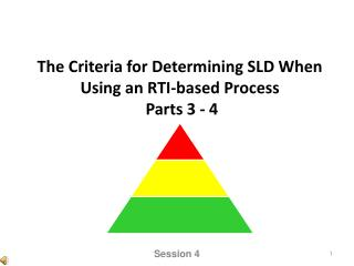 The Criteria for Determining SLD When Using an RTI-based Process  Parts 3 - 4