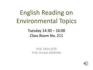 English Reading on Environmental Topics