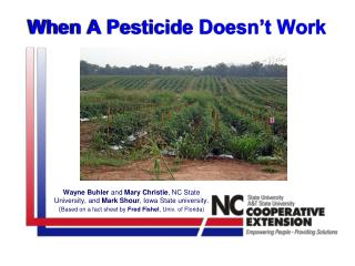 When A Pesticide Doesn't Work